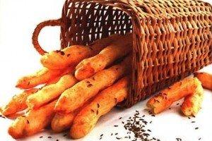 Хлебные палочки с тмином