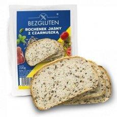 Хлеб Bezgluten белый с черным кунжутом 220г