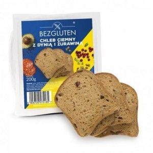 Хліб Bezgluten сірий з насінням гарбуза і журавлини 200г