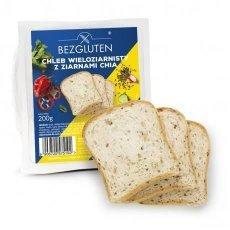 Хліб Bezgluten крупнозернистий з насінням чіа 200г