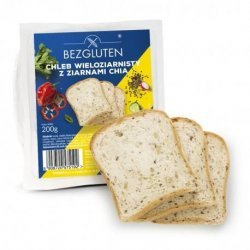 Хлеб Bezgluten крупнозерновой с семенами чиа 200г,  Bezgluten, Хлеб