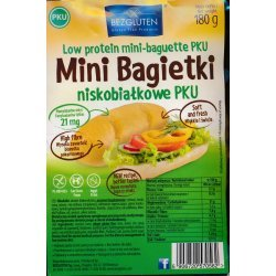 Мини-багеты Bezgluten для выпечки PKU 180г,  Bezgluten, [category_name]
