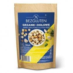 Гренки Bezgluten для супа с зеленью 100г,  Bezgluten, Сухарики и гриссини