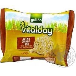 Хлебцы Gullon овсяные с семенами киноа и льна 28,8г,  Gullon, Хлебцы