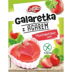 Желе  Celiko с агаром и клубничным вкусом 45г,  Celiko, Желе, кисели, пудинги