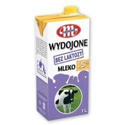 Молоко Mlekovita без лактозы 1,5% 1л,  Mlekovita, Безлактозные