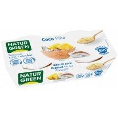 Йогурт органический Natur Green кокосовый с ананасом 2х125г