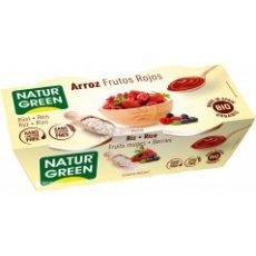 Йогурт органический Natur Green рисовый с лесными ягодами 2х125г