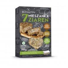 Смесь Bezgluten 7 зерен для выпечки хлеба 250г