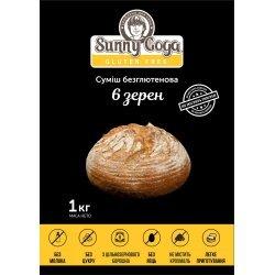 Смесь Sunny Goga 6 зерен для выпечки 1кг,  Sunny Goga, Диабетические