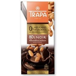 Шоколад Trapa темный с миндалем DIA 175г,  Trapa, Кондитерские изделия