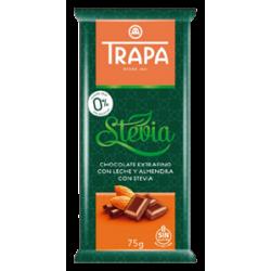 Шоколад Trapa молочный с миндалем DIA 75г,  Trapa, Кондитерские изделия