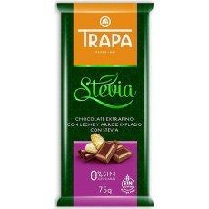 Шоколад Trapa молочний з рисовими кульками DIA 75г