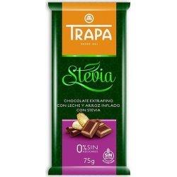 Шоколад Trapa молочный с рисовыми шариками DIA 75г,  Trapa, Кондитерские изделия