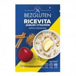 Каша Bezgluten рисовая со вкусом яблока и корицы 50г,  Bezgluten, Каши и крупы