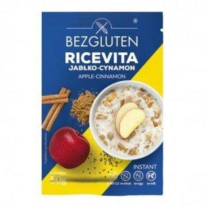 Каша Bezgluten рисовая со вкусом яблока и корицы 50г