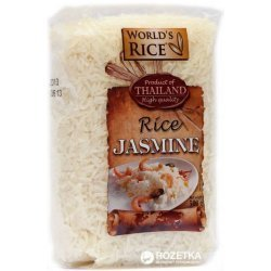 Рис World`s Rice жасмин 500г,  World`s Rice, Каши и крупы