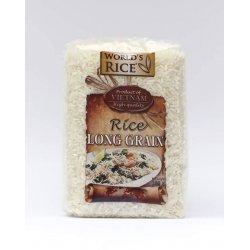 Рис World`s Rice длиннозернистый Вьетнам 500г,  World`s Rice, Мюсли, крупы и каши