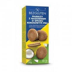 Печенье Bezgluten с кокосовой начинкой Маркизы PKU 190г,  Bezgluten, Печенье