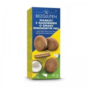 Печенье Bezgluten с кокосовой начинкой Маркизы PKU 190г