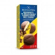 Печенье Bezgluten бисквитное в бельгийском шоколаде DIA 80г