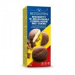 Печенье Bezgluten бисквитное в бельгийском шоколаде DIA 80г,  Bezgluten, Печенье