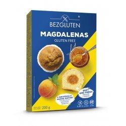 Кексы Bezgluten с абрикосовой начинкой Магдаленас 200г,  Bezgluten, Кексы