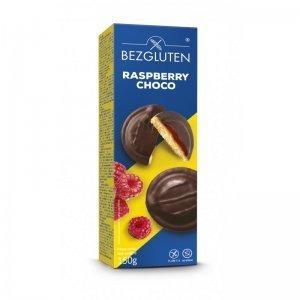 Печенье Bezgluten бисквитное с малиновым желе в шоколаде 150г