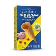 Вафельные рожки Bezgluten для мороженого 85г (6шт.)