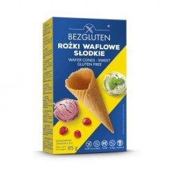 Вафельные рожки Bezgluten для мороженого 85г (6шт.),  Bezgluten, Вафли