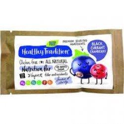 Батончик Healhty Tradition с черной смородиной и клюквой 34г,  Healthy Tradition, Кондитерские изделия