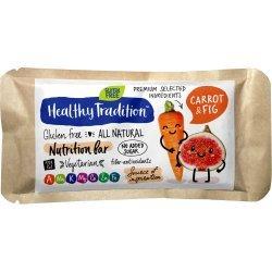 Батончик Healhty Tradition с морковью и инжиром 34г,  Healthy Tradition, Батончики