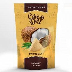 Чипсы кокосовые Coco Deli с сыром Пармезан 30г,  CocoDeli, Чипсы и попкорн