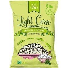Попкорн Lajt Snek зi смаком сметани та зеленi 20г