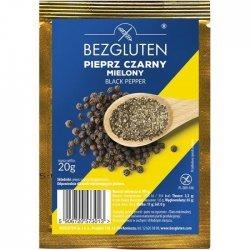 Перец Bezgluten черный молотый 20г,  Bezgluten, Масло, соусы и специи