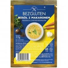 Бульон Bezgluten куриный с макаронами 22г